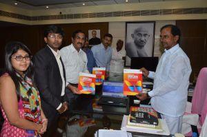 Telangana Chief Minister Shri. K Chandrasekhar Rao launching the website of BioAsia 2015